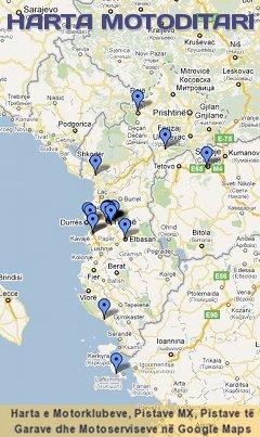 Vizito hartën e motorklubeve, pistave MX, pistave të garave, dhe motoserviseve.